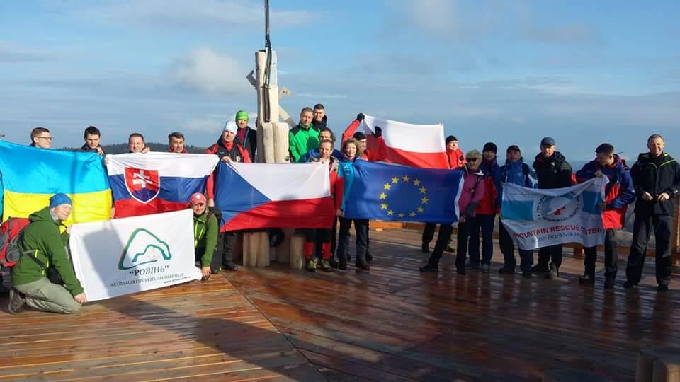Волонтери ГРЦ беруть участь у спільних навчаннях гірських рятувальників України, Польщі, Чехії та Словаччини (фото)