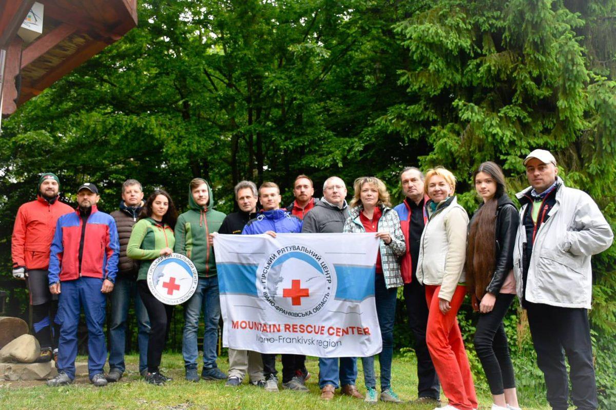 «Волонтери і громадська організація»: команда Гірського рятувального центру пройшла триденний тренінг