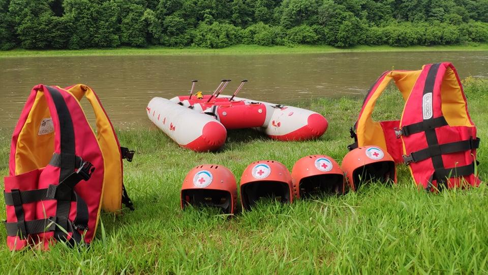 Волонтери ГРЦ долучилися до тактико-спеціальних навчань щодо порятунку людей на водних об'єктах (фото)